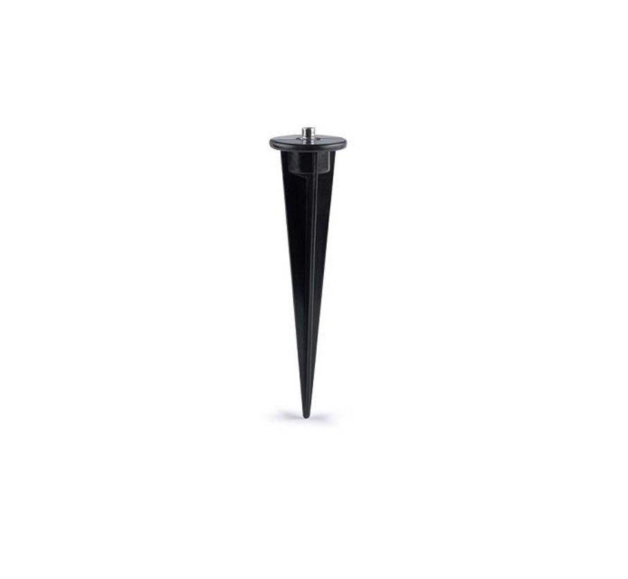 Grondpin 235mm zwart met M10 bevestiging