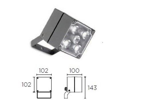 Leds-C4 Cube spotlight 15Watt (1374lm) -3000K antraciet
