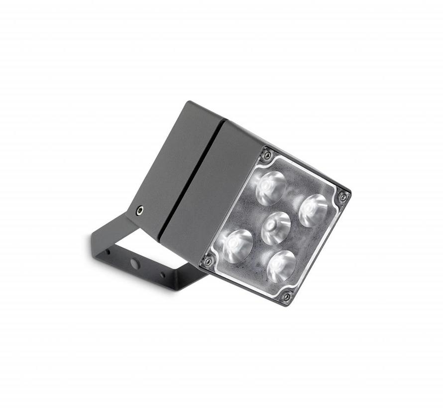 Cube Led spotlight 15Watt-3000K antraciet