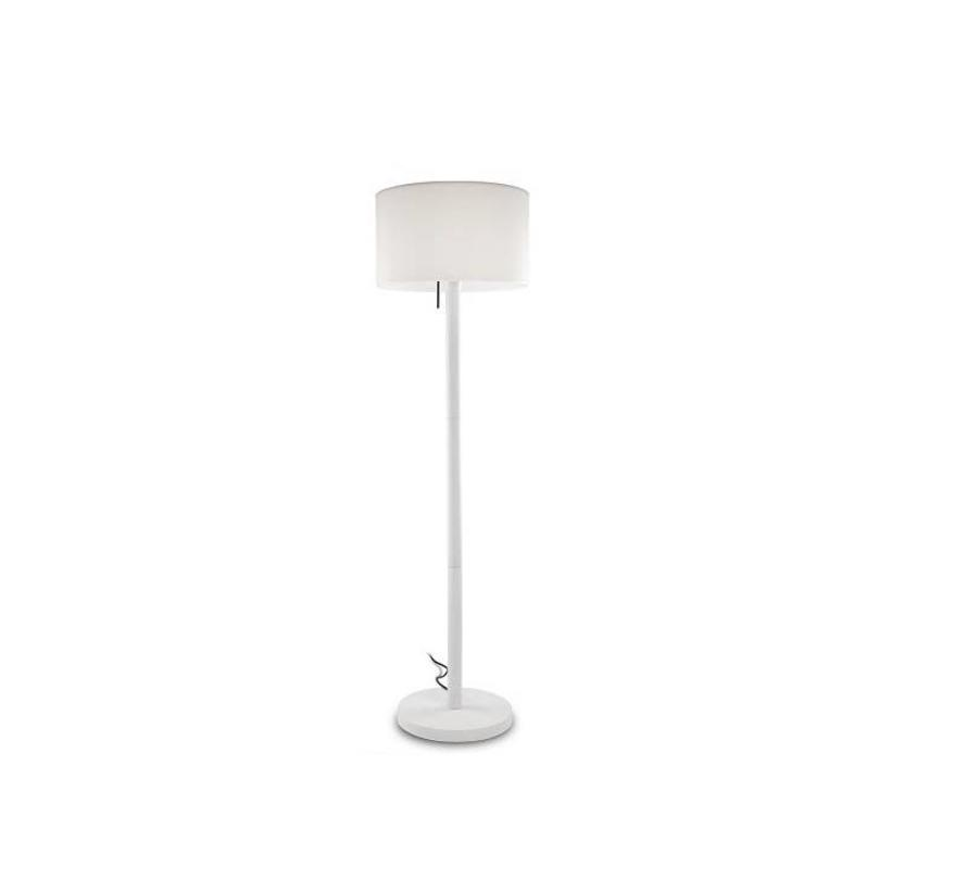 Smooth staande buitenlamp wit - opaal E-27  175cm