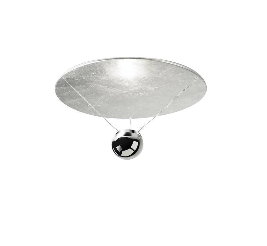 Single plafondlamp led 25W-2700K zilver-chroom