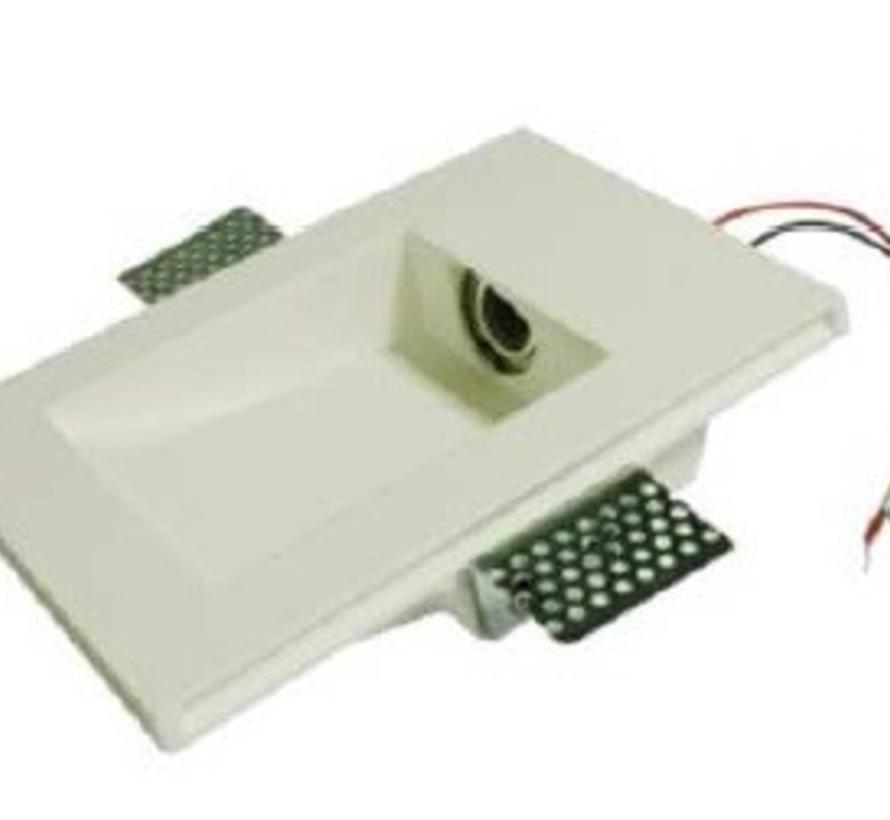 Secret rectangular trimless wall recessed 350mA-2.4Watt-3000K
