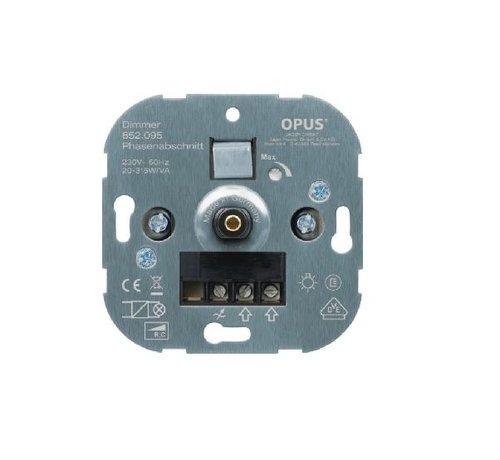 Opus Dimmer Fase afsnijding 20-315Watt voor draai-drukknop
