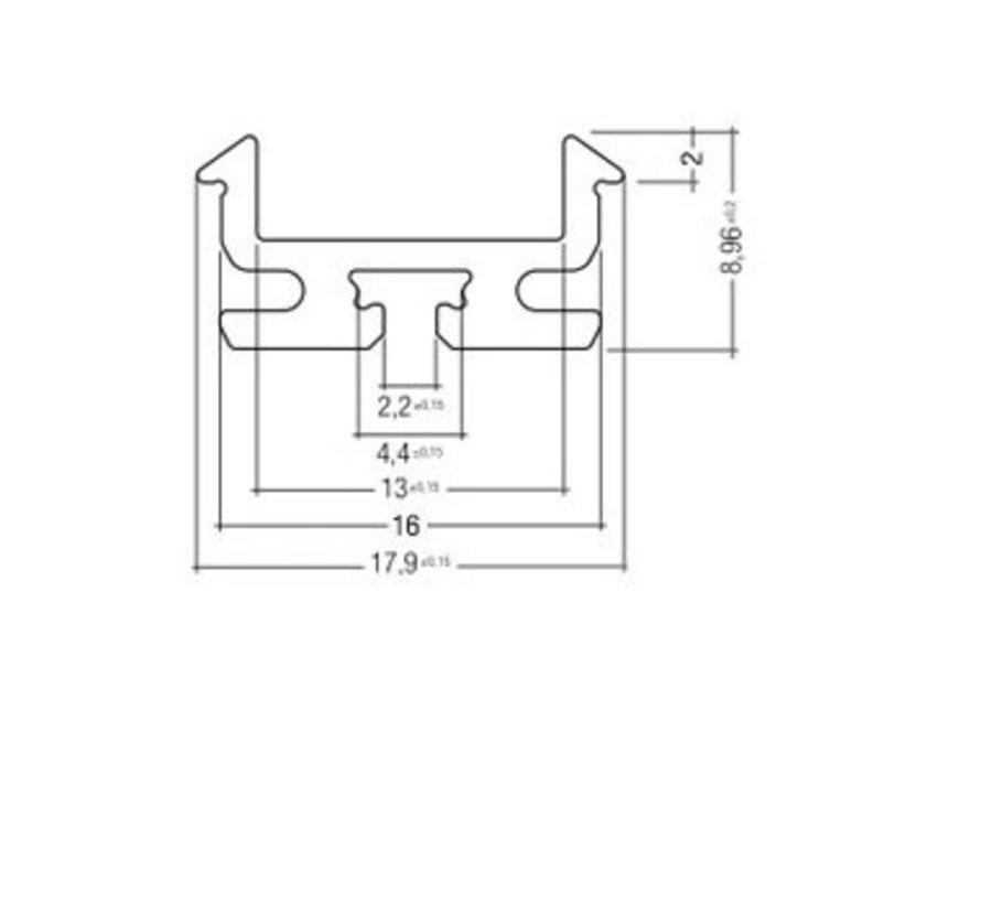 Z201-2 alu ledprofiel 200cm