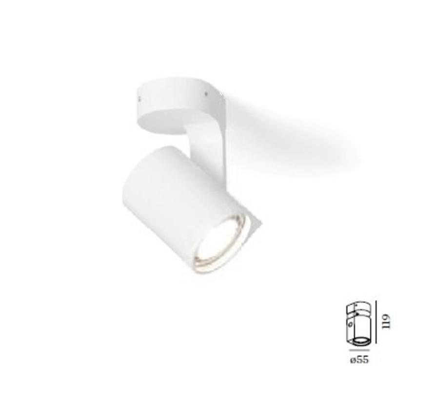 Sqube on base 1.0 LED ceiling surface 6Watt dimmable