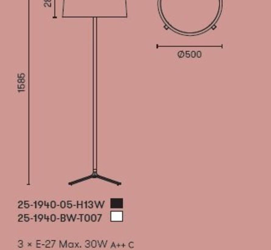 Hall Led vloerlamp 3 x E-27