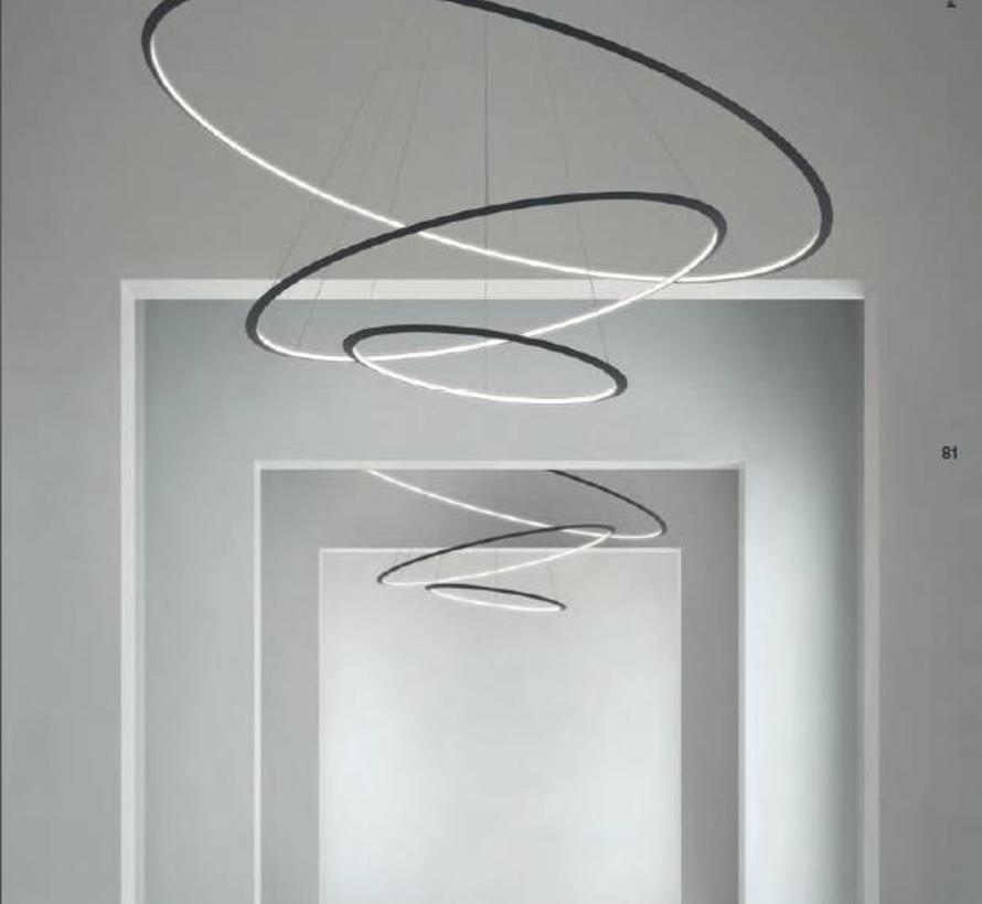 Circular Chandelier 3-ring led hanglamp Ø600-1200-2000mm