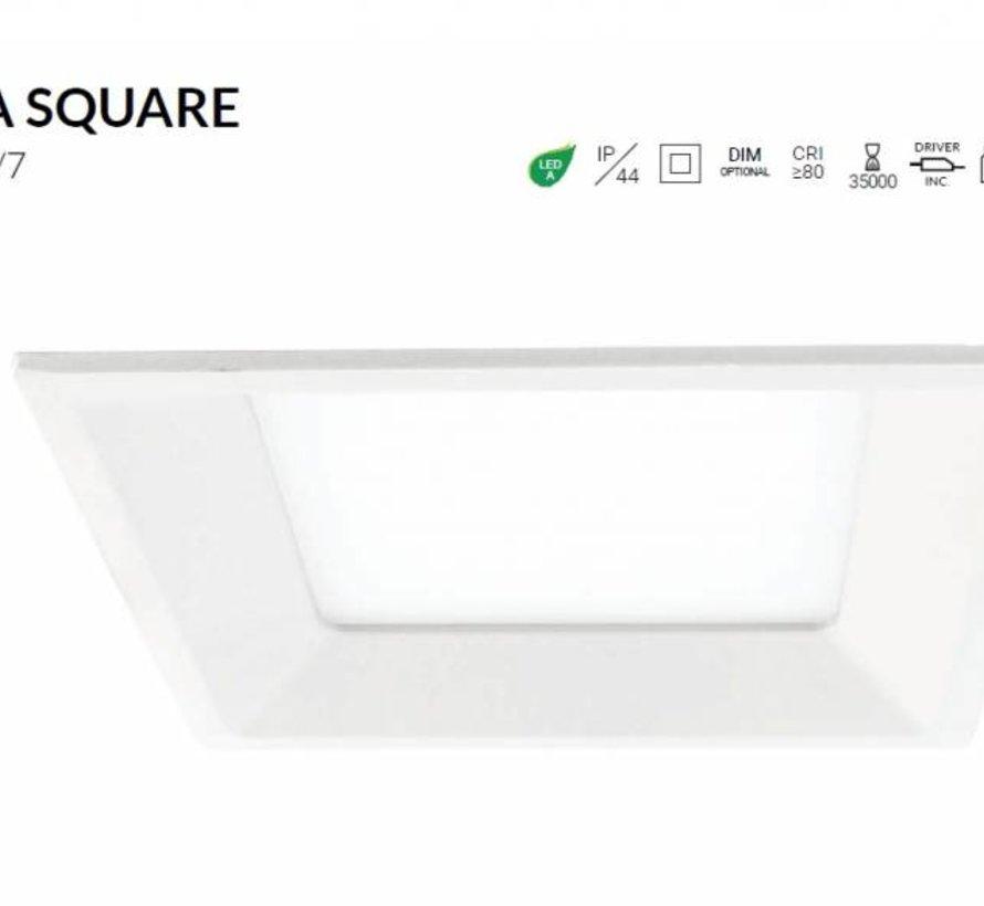 Miranda Square led downlight 8-22Watt wit IP44