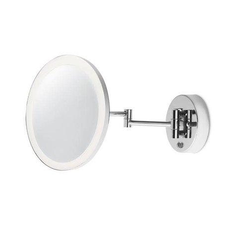 Leds-C4 Reflex verlichte en verstelbare spiegel 6W-3000K chroom
