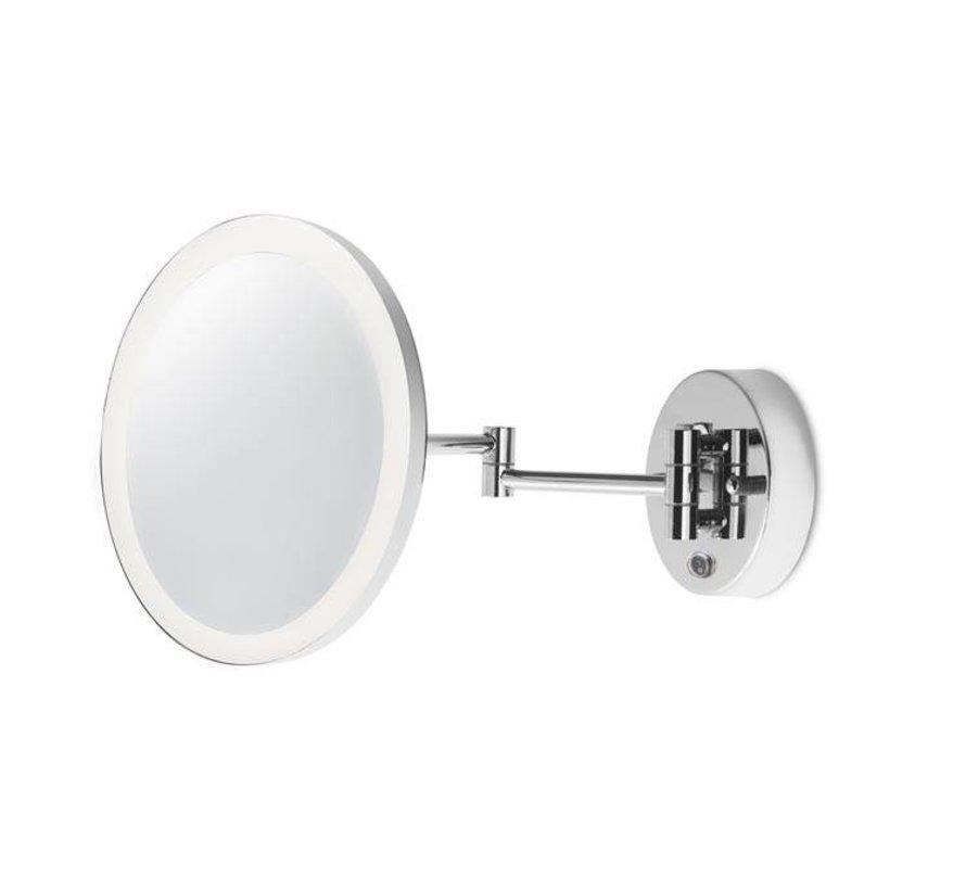 Reflex verlichte en verstelbare spiegel 6W-3000K chroom