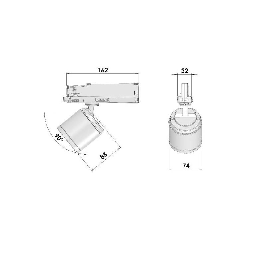 GA-2020 Casa Led Railspot 10-17Watt CRI90