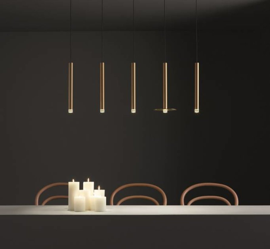Candle chandelier 6 armig 18,8Watt-2700K mat brons  dimbaar