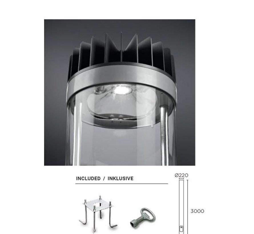 Citizen paalarmatuur 54Watt L 300cm in antraciet