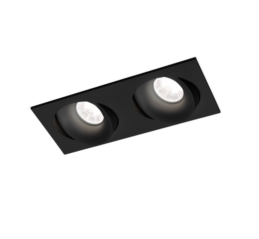 Ron 2.0 Led dimbare inbouwspot 7-10W richtbaar in wit, zwart en alu grijs