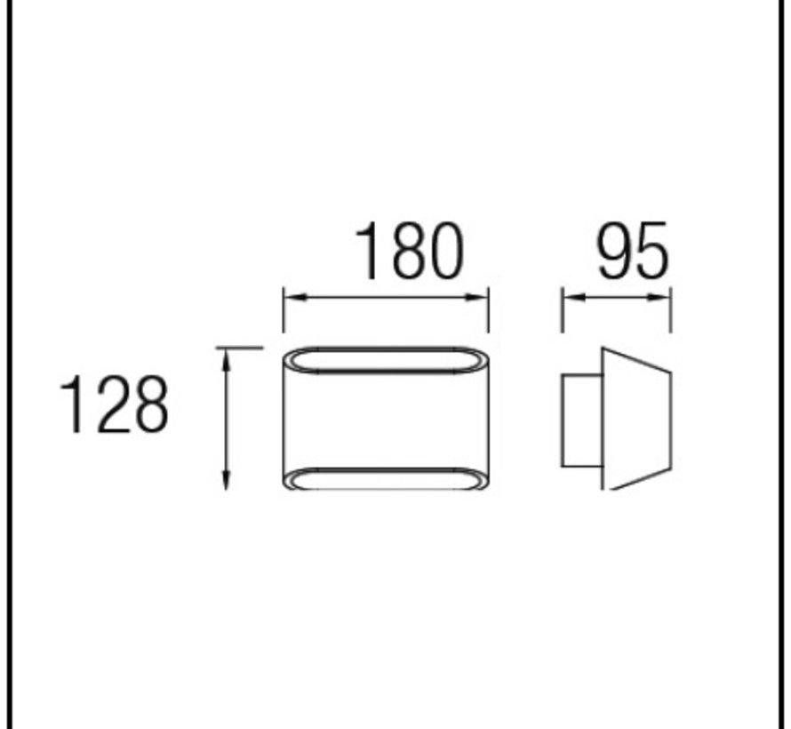 Diago Led up-down wandarmatuur 8,2W-3000K
