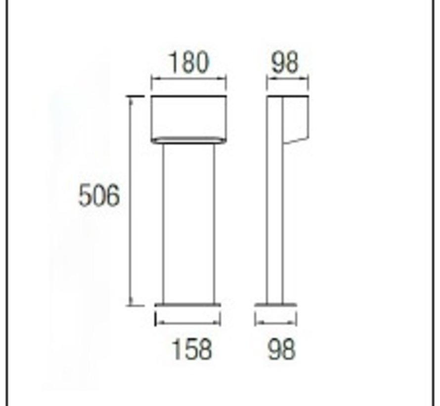Diago Beacon Led paal armatuur 5W-3000K  in antraciet