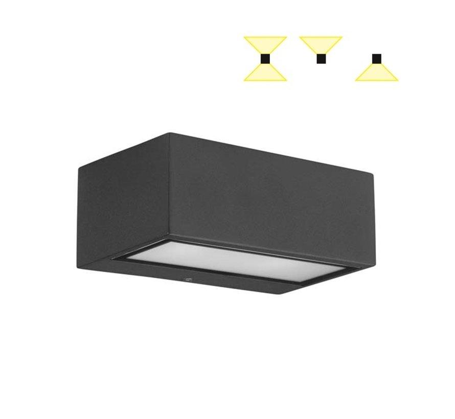 Nemesis Aluminium wandlamp 5,3Watt up-down
