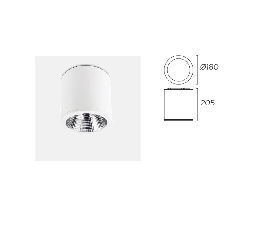 Exit LED opbouw downlighter 2646lm - 29,6W -3000K