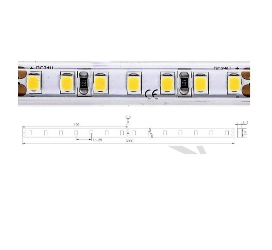 QX-nature IP67 ledstrip 24V-4,8Watt 70led/mtr 500cm