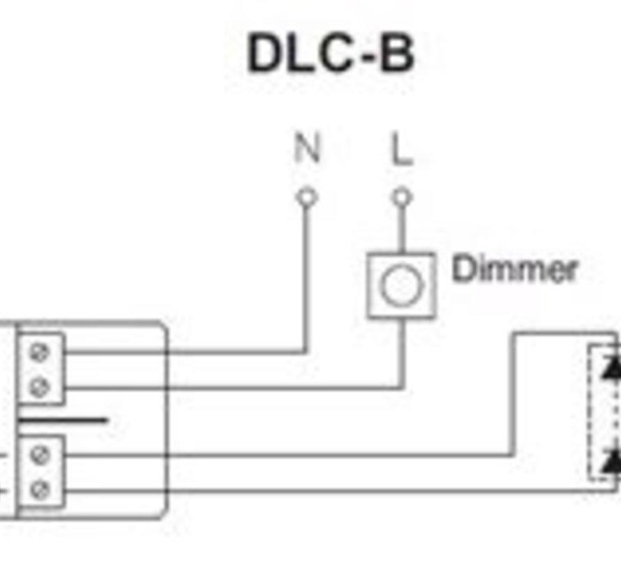 Driver LED 700mA/4-10Watt fase cut dimbaar met trekontlasting