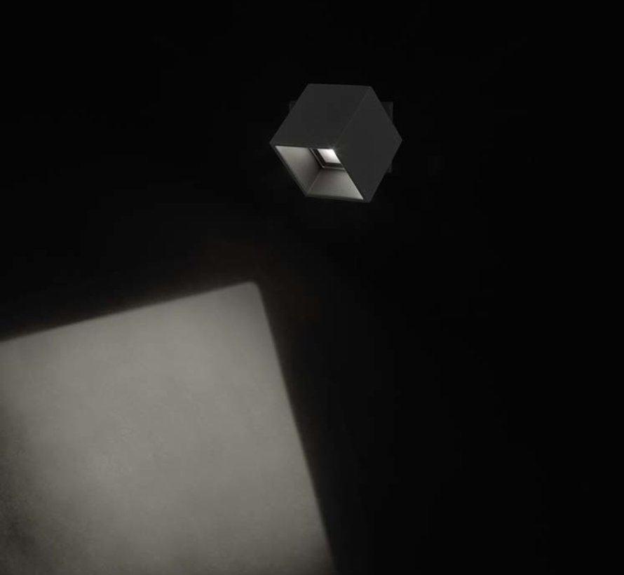 Cubus verstelbare led wandlamp 11Watt-3000K  antraciet