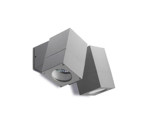 Leds-C4 Icaro dubbele verstelbare led wandlamp 230Volt-2 x GU10 alu grijs