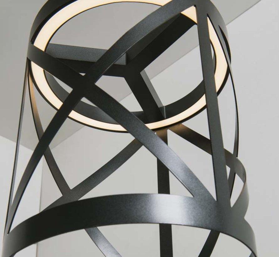 Train Led hang- wandlamp Ø230mm 15,6W-2700K zwart dimbaar