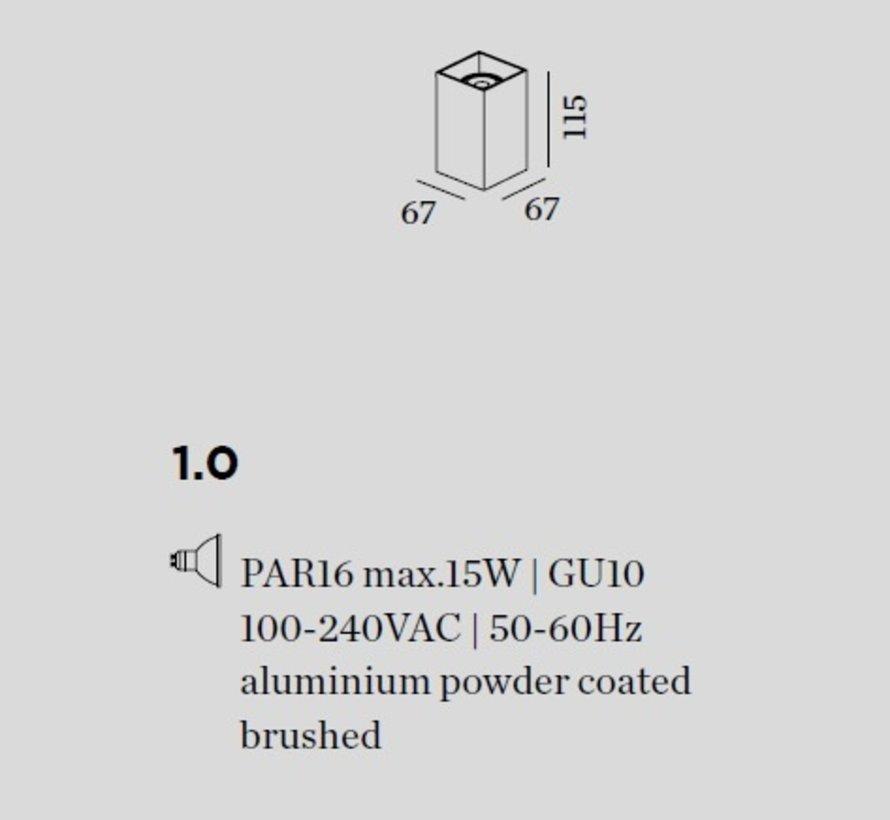 Box  Mini 1.0 wandlamp PAR16 up of down