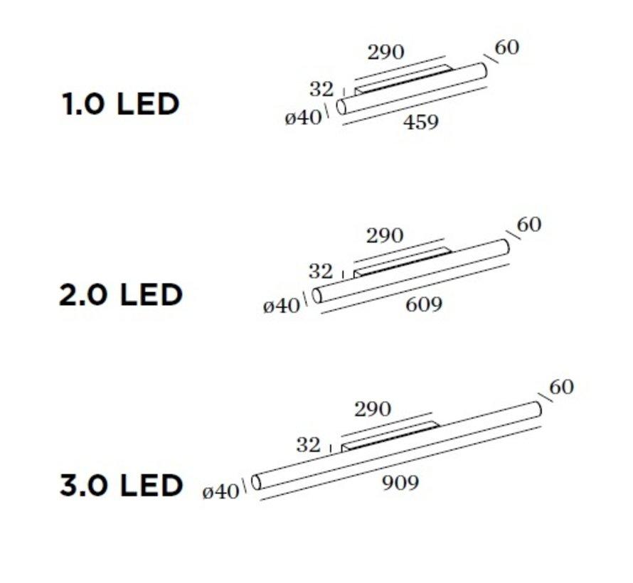 Mirba IP44 Led wandlamp dimbaar