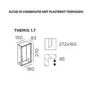 Wever-Ducre Muur inbouwbox voor Themis 1.7