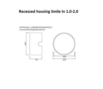 Wever-Ducre Recessed housing voor Smile 1.0-2.0