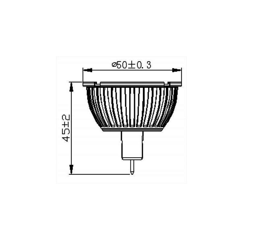 MM09524 MR16-GU5.3 12V-5Watt-36gr 2800K non dimmable