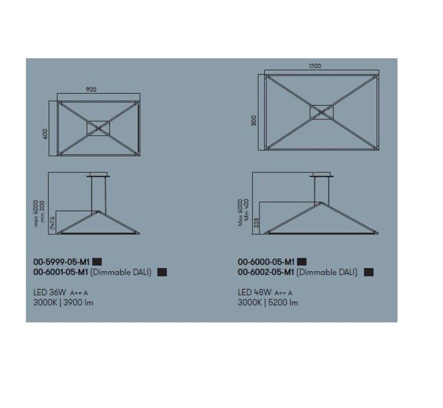 Tubs LED hanglamp 60 x 90cm  36Watt-3000K