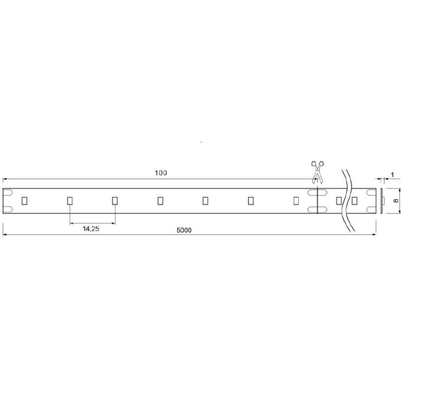 Brilliant Basic 24V-4,8W IP00 5mtr  ledstrip 70leds/p.mtr CRI90