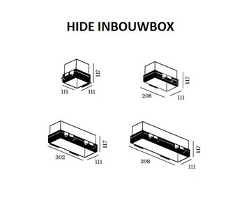 Wever & Ducre Hide inbouwbox, house and plasterkit