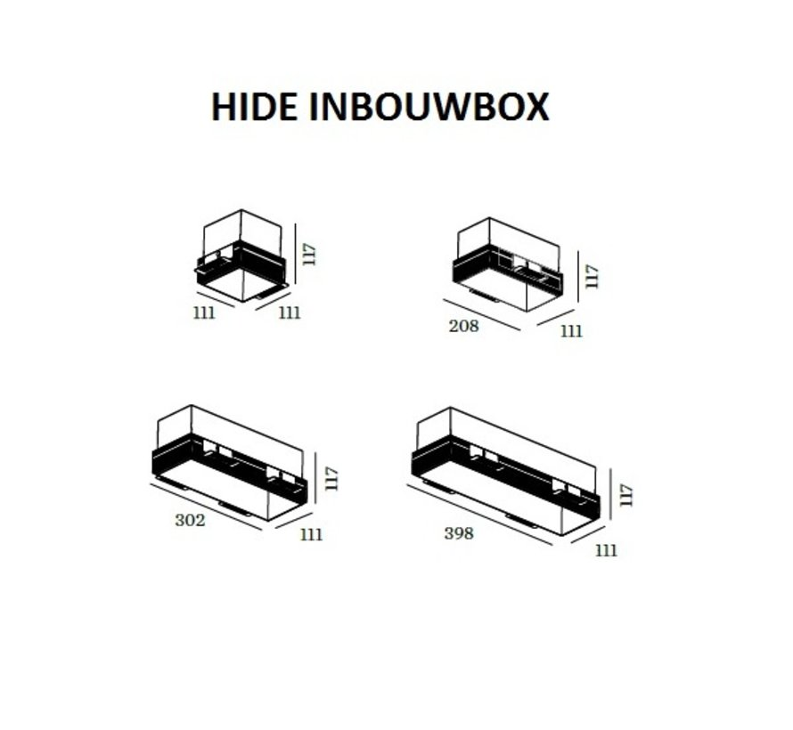 Hide inbouwbox, house and plasterkit