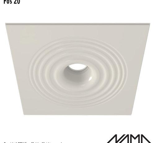 NAMA Fos 20 trimless gips inbouwspot rond voor Ø111mm ledlamp