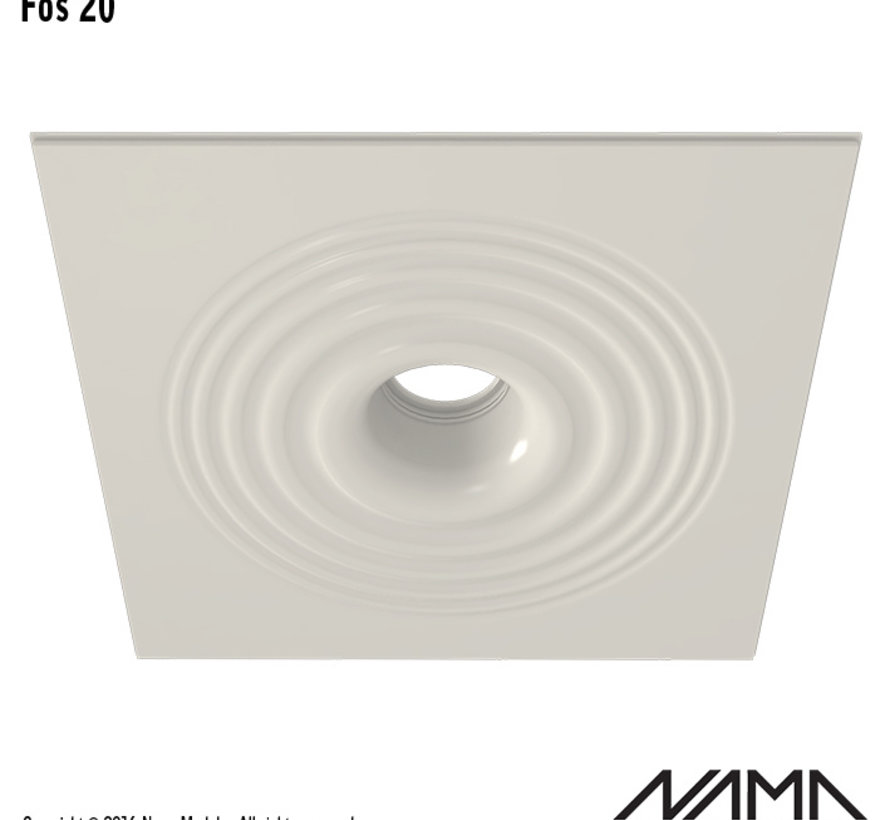 Fos20 trimless plaster recessed spot round for Ø111mm LED