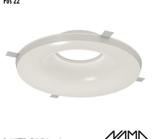 NAMA Fos 22 trimless gips inbouwspot rond voor Ø111mm ledlamp