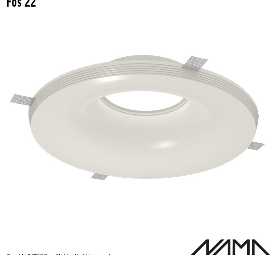 Fos 22 trimless gips inbouwspot rond voor Ø111mm ledlamp