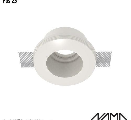 NAMA Fos 23 trimless gips inbouwspot verdiept rond voor Ø50mm led
