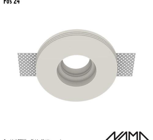 NAMA Fos 24 trimless gips inbouwspot verdiept rond voor Ø35mm led
