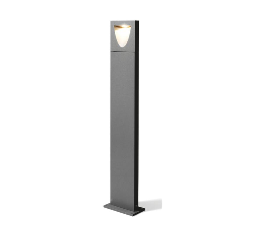 Smile 1.0 8Watt-3000K paalarmatuur 30 - 100cm donker grijs