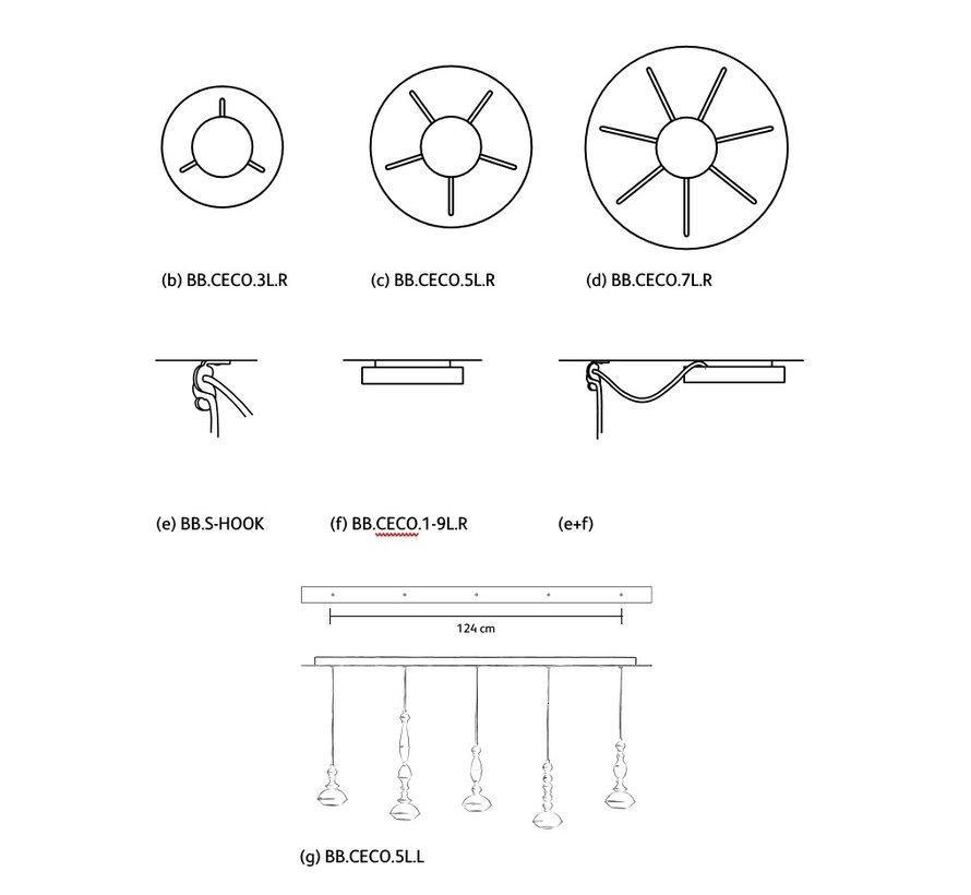 Benben ceiling plates voor Benben hanglampen