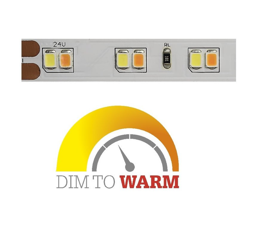 Flexband Dim to Warm ledstrip 1800-3000K 24V/14,4W 5mtr