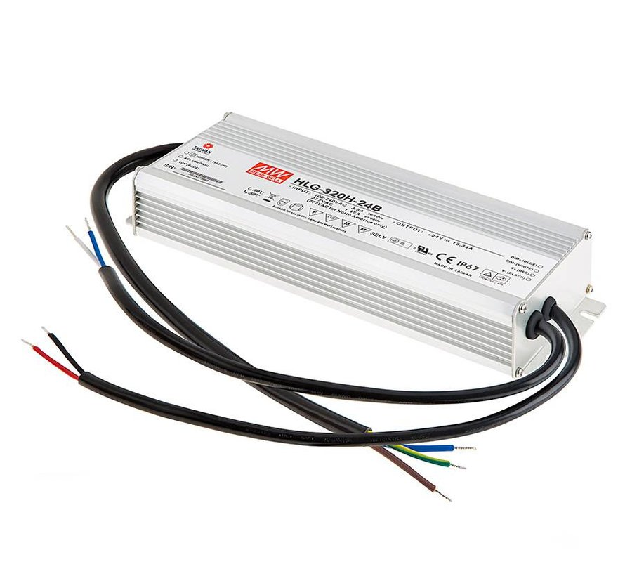 HLG-80H-24B led driver 24VDC-81,6W IP67 dimbaar