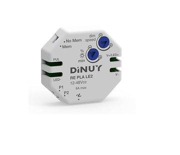 Dimmer RE-PLA-LE2 /PWM 12-48VDC / 8A inbouw