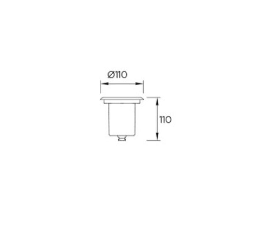 Aqua IP68 inbouwspot 12V-5Watt-4000K 25gr, excl driver
