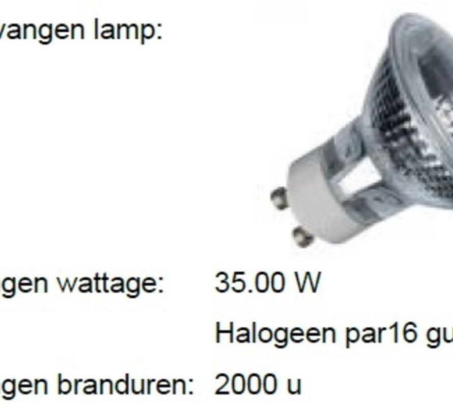 MM09916 PAR16-GU10 4W-2800K-36gr  niet dimbaar