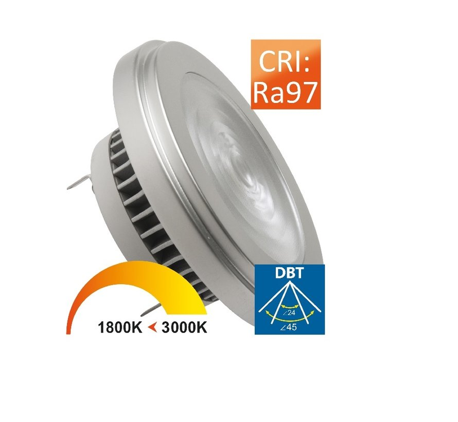 MM10018 AR111 G53 350mA-12Watt 24/45gr Dim to Warm  CRI97
